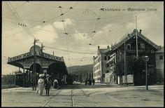 Christiania MAJORSTUENS STATION, Kristiania. Brukt småformat stemplet 1913 Utg Küenholdt