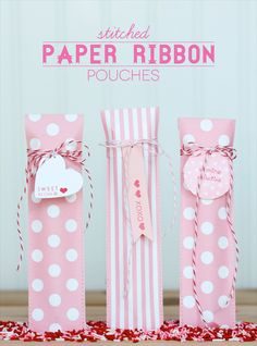 valentine craft paper pouch