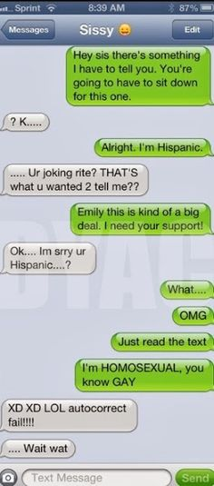 Autocorrect fail – Coming out - Funny Texts - Funny Text Messages Funny Texts To Send, Funny Sms, Funny Text Fails, Cute Texts, Funny Text Messages, Funny Jokes, Hilarious Texts, Autocorrect Fails Funny, Funny Troll