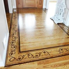 This determined DIYer earned our respect--and a Moxie Award--for the elegant vine-and-leaf border she spent days hand-painting on her entryway floor. Not once, not twice, but three times. See her story here. | thisoldhouse.com