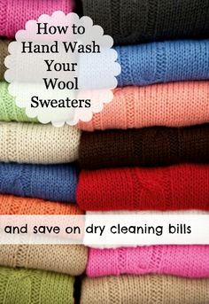 How to Hand Wash a Wool Sweater and save on your dry cleaning bill. Super simple and really works without ruining your best sweaters. The Greenbacks Gal