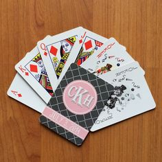 Wedding Favors - Personalized Playing Cards