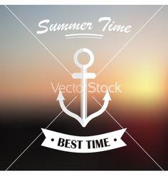 Summer design on blured background vector by rumko on VectorStock®