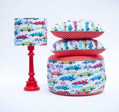 Produkty marki Lamps&Co. Pufa dla dzieci Wyścigówki.