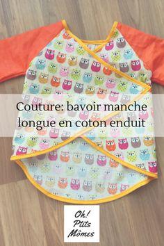 Couture: coudre un bavoir manche longue en tissus enduit