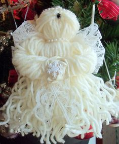 Christmas Ornaments To Make, Angel Ornaments, Christmas Angels, Christmas Projects, Holiday Crafts, Christmas Holidays, Christmas Decorations, July Crafts, Birthday Decorations