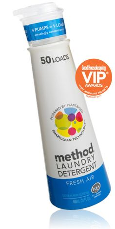 I love Method products, especially the convenient laundry pump bottle! Awesome idea!