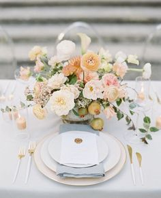 Wedding Table Place Settings, Wedding Reception Table Decorations, Wedding Tables, Floral Centerpieces, Wedding Centerpieces, Wedding Bouquets, Flower Bouquets, Flower Arrangements, Floral Wedding
