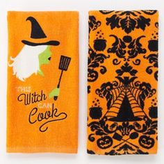Halloween ''This Witch Can Cook'' 2-pk. Kitchen Towels