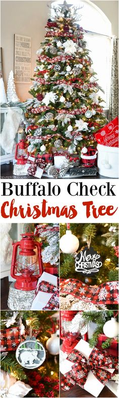 buffalo check christmas tree