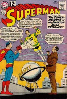 Superman Fan Podcast Episode #291 Part I: Superman Comic Book Cover Dated November 1962: Superman #157! http://thesupermanfanpodcast.blogspot.com/2014/01/episode-291-part-i-superman-comic-book.html