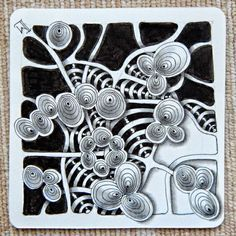 Lily's Tangles: Diva's Challenge #208 and weekly tiles