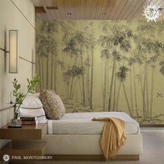 Metallic Bamboo Forest Ultraviolet from our Endur Collection.  #modernwallpaper #moderndecor #metallicdecor #currentdesignsituation #fromwhereistand #houseenvy #interiorandhome #luxuryhome #housebeautiful #homeandgardens #metallicinteriors