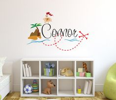 Hey, I found this really awesome Etsy listing at https://www.etsy.com/ie/listing/238858893/personalized-pirate-name-wall-decal