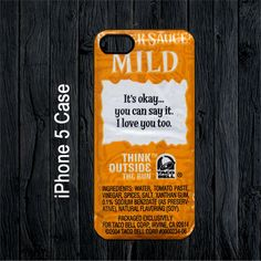 Taco Bell Sauce Packet Sayings foi iPhone 5 Case | SalamCases - Accessories on ArtFire
