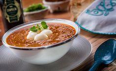 #QuieroComer Sopa de fideo con quesillo líquido de Chapulín.