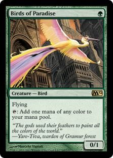 Birds of Paradise (Magic 2012) - Gatherer - Magic: The Gathering