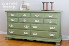 Charming with the painted white hardware.