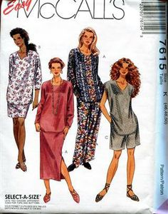 We offer some hard to find Women Extra Plus sized patterns McCalls 7615 Size 46-50 Separates