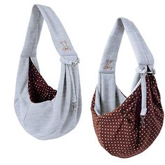iPrimio Dog/Cat Hands Free - Reversible Sling Carrier Bag / Papoose. Super Soft Pouch and Tote - Grey ** Visit the image link for more details.