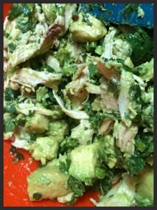 Creamy Avocado Chicken Salad.  This recipe is a treasure, and a great easy and super healthy lunch!!