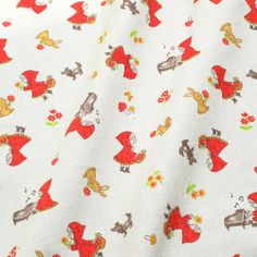 One yard  Red riding hood japanese fabric cream by HanamiBoutique, $10.90