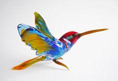 Art Glass Hummingbird Figurine Glass Colibri Figurine by artexport, $19.99