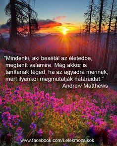 Andrew Matthews idézet a határainkról. A kép forrása: Lélekmozaikok