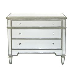 Cary Silver Mirrored Chest