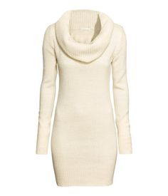 H&M - Cowl-neck Sweater $24.99 - Natural white melange. Long knit sweater with rib-knit cowl neck. ONLINE EXCLUSIVE.