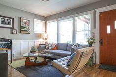 Jeff & Joseph's Silver Lake Bungalow mid century living room deco with a pin ball machine!