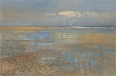 Edward Seago Sand Pools at Waxham, Norfolk (Water reflections) SOLD Great Paintings, Beautiful Paintings, Seascape Paintings, Landscape Paintings, Oil Paintings, English Artists, Modern Artists, Pastel Art, Beach Art