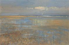 EDWARD SEAGO  Sand Pools at Waxham, Norfolk Oil on board Signed (lower left) 20 x 30 ins SOLD