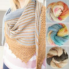 A beautiful, light-weight shawl that is easy to knit, and a joy to wear. The kit includes the pattern, and contains either one skein of Hedgehog Skinny Single, and one skein of Wandering Wool, or two skeins of Hedgehog Skinny Single. HF Skinny Single: 100g, 366m, 100%merino wool Wandering Wool: 100g, 437yds, 50%silk, 50% merino wool