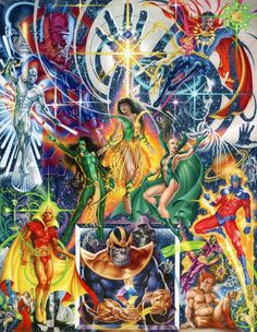 The Cosmic Odyssey 'Marvel' by Craig Hamilton Cosmic Comics, A Comics, Marvel Comics Art, Marvel Dc, Marvel Heroes, Marvel Saga, Dragon Ball Z, Steve Ditko, Comic Page