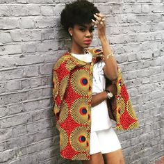 Splendid!!! #beccafrica#Africanlady#printjacket#naturalbeauty#awesome