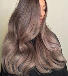 Ashy brown violet gray hair More