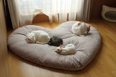 love heart shaped cat bed