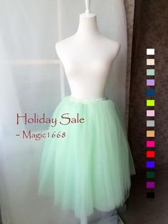 Mint Tulle Skirt Adult or Girls Tulle Skirts Mint Skirt Carrie Bradshaw Tutu - Customized summer fashion -magic1668