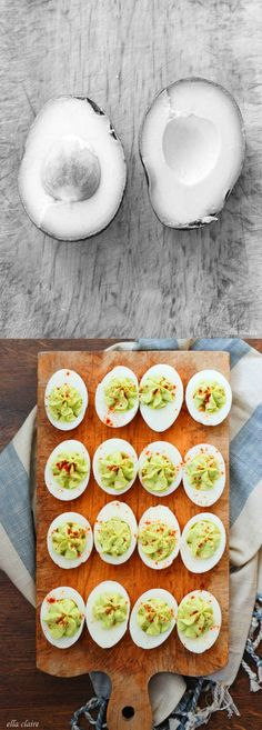 Before and After: Avocado Deviled Eggs