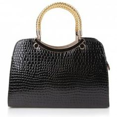 $10.80 Trendy Women's Tote Bag With Crocodile Print and Candy Color Design
