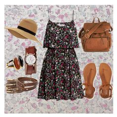 """""""Florals"""" by vill-ain ❤ liked on Polyvore featuring Osborne & Little, Aéropostale, H&M, MANGO, Nixon and Monsoon"""