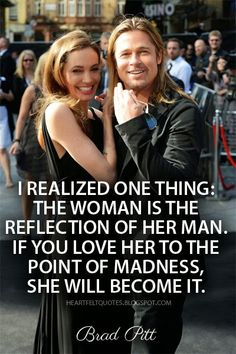 Heartfelt Quotes: Secret of love : Brad Pitt about his wife