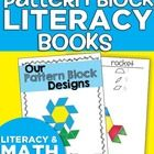 Kindergartners write labels and document the blocks they use when using this pattern block design book. They create their own designs and pictures, making this an authentic literacy experience and easy to add to a block center!