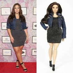 Officially a Barbie girl! Love this body-positive Ashley Graham Barbie doll presented at Glamour's Woman of the Year.  #GlamourWOTY