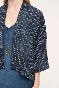 Cropped Kantha Jacket - anthropologie.com