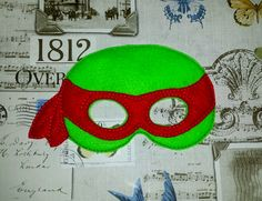Ninja turtle hero inspired mask ITH Project In the Hoop Embroidery Design Costume, Cosplay, Fancy dress, Masquerade, Photo booth, Prop. by TheHoopBooteek on Etsy
