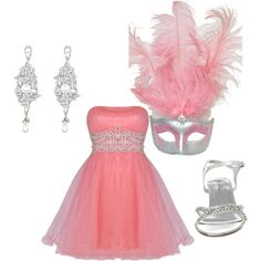 """Pink Masquerade/Prom"" by madster on Polyvore"
