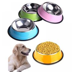 BIBSS Dog Bowl Stainless Steel Pet Feeding Bowls for Cats or Drinking Fountain Dog Goods for Pets Large Dogs Stainless Steel Dog Bowls, Drinking Fountain, Dog Feeder, Pet Beds, Dog Houses, Pet Accessories, Large Dogs, Pet Care, Pets