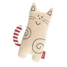 This adorable little kitty is exquisitely soft to hold and so much fun for babies thanks to the built-in rattle. They can easily grasp it with their little hands and they love making the little cat rattle. Sewing Toys, Sewing Crafts, Sewing Projects, Fabric Toys, Cat Doll, Teething Toys, Cat Crafts, Stuffed Animal Patterns, Felt Animals